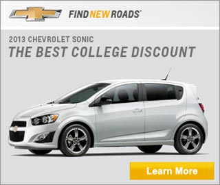 Chevy Logo. 2013 Chevrolet Sonic, the best college discount. Click to learn more.